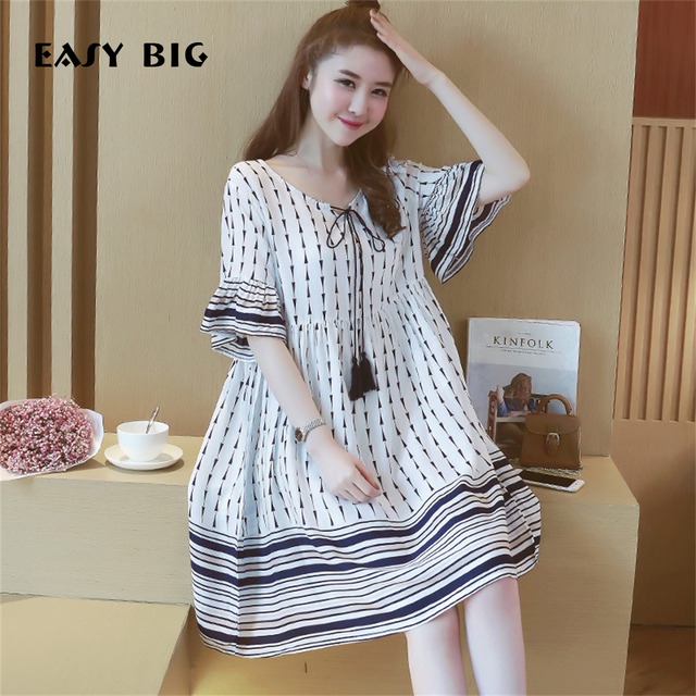 e571d5d87e8cb EASY BIG Summer Cotton Maternity Dresses Casual Nursing Dresses Women  Pregnant Clothes Knee-Length Pregnancy