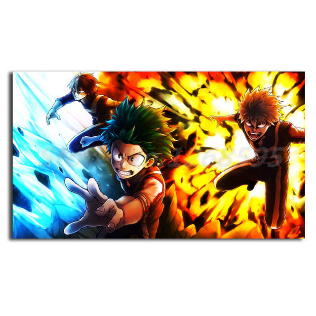 Us 5 7 5 Off Boku No Hero Academia Izuku Midoriya Hd Wallpaper Art Canvas Poster Painting Wall Picture Artwork Print Home Bedroom Decoration In