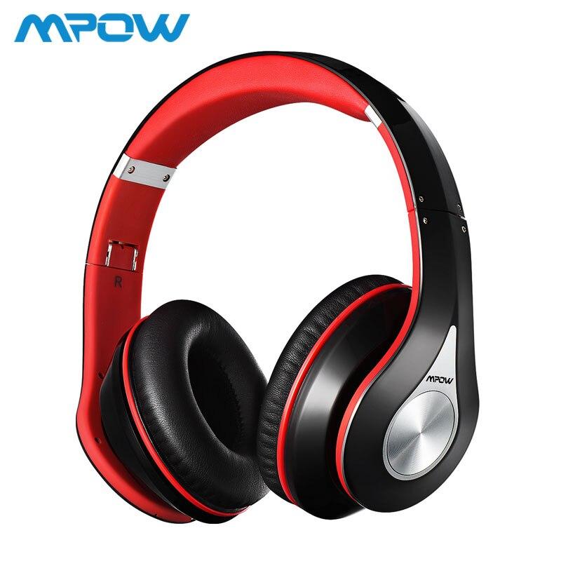 Mpow mejor 059 auriculares inalámbricos Bluetooth 4,0 auriculares micrófono incorporado suave orejeras Cancelación de ruido auriculares estéreo para teléfonos