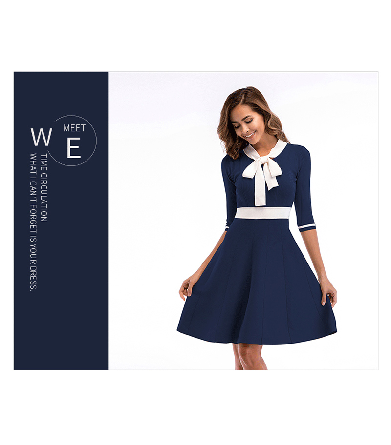Women 39 s Fashion Bow In The Sleeves And Large Swing Knit Temperament Dress Female Summer in Dresses from Women 39 s Clothing