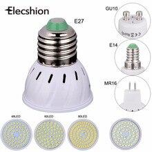 Свет E27 E14 MR16 GU10 лампа 220В SMD 2835 лампада 48 60 80 шт. СВЕТОДИОДНЫЙ Прожектор 3 Вт 5 Вт 7 Вт лампы трубки светильники фары