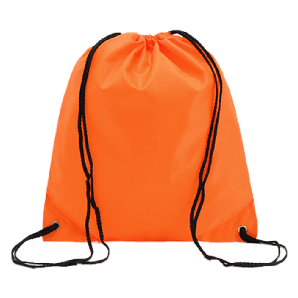Wholesale 5* ( School Drawstring Book Bag PE Shoe Backpack-orange