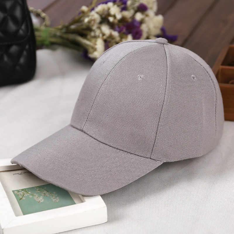 قابل للتعديل الرجال قبعات البيسبول الصيف عادي منحني الشمس قبعة واقية النساء بلون قبعات Casquette في الهواء الطلق الإكسسوارات