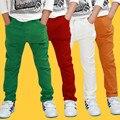 Calças de roupas infantis cottonkids calças meninos primavera outono calças finas moda jubartes claretred verde escuro branco ocasional