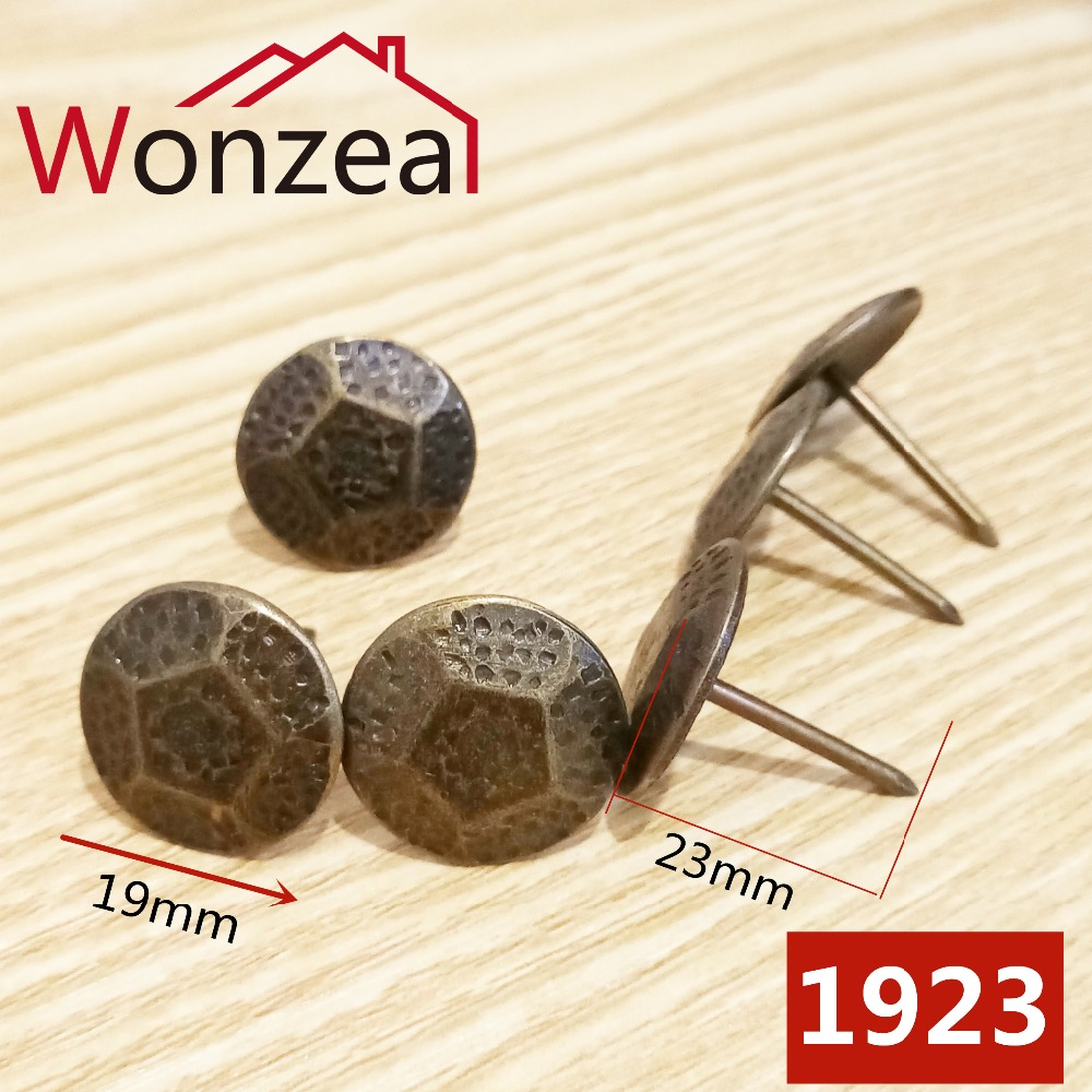 20pcs Dia. 19mm Furniture Hardware Antique Bronze Decorative Upholstery Nail Jewelry Gift Box Sofa Decorative Tacks Stud#1923