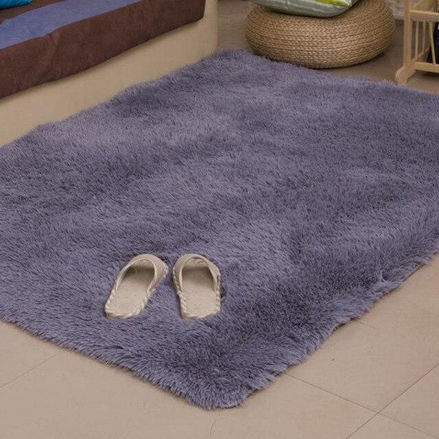 80x120cm floor carpets anti slip bedroom soft mat models silky carpet mats sofa faux artificial skin - Soft Carpet For Bedrooms