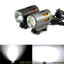New 2in1 XM-L LED L2 2000Lm Front Bicycle High/Low Beams Lamp Light Cycling Bike Bicycle Accessories High Quality Mar 13