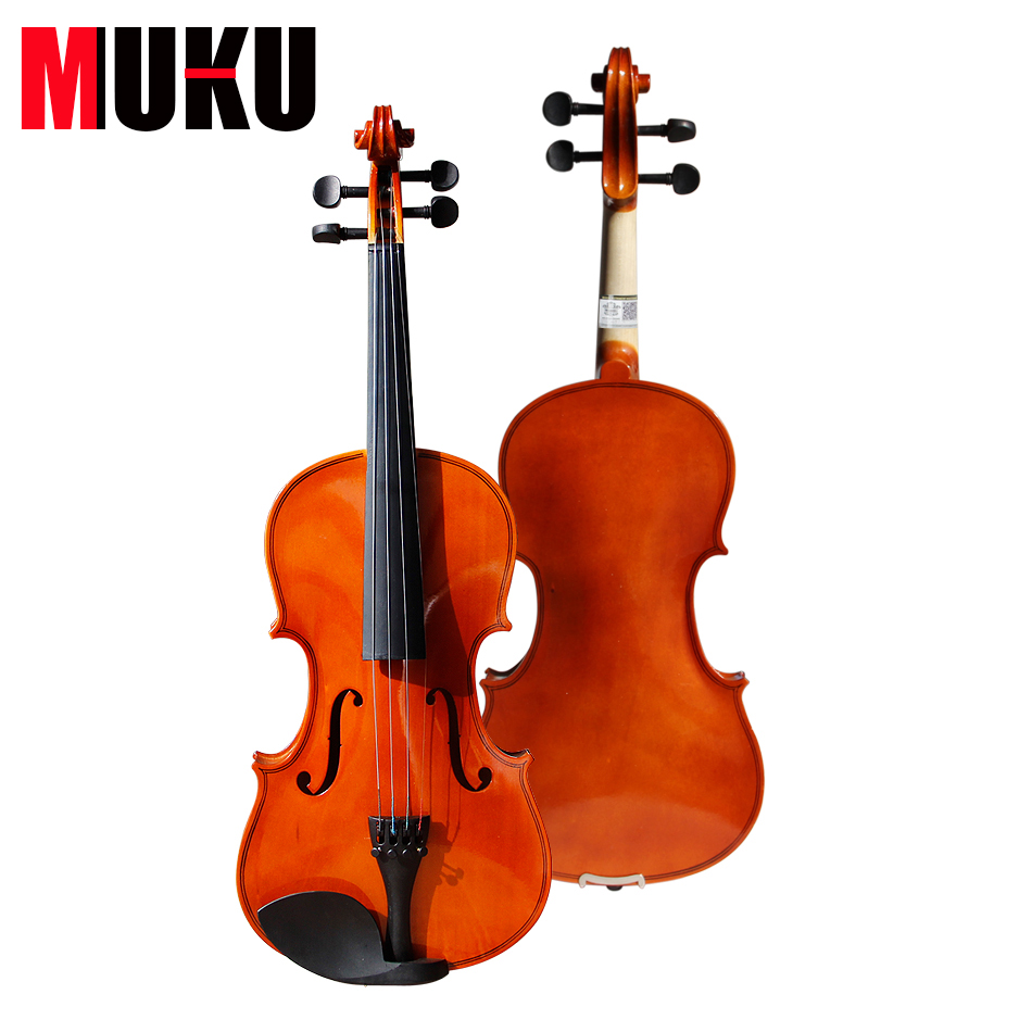 High quality China Bailing Acoustic Violin 1/4 3/4 4/4 1/2 1/8 size with case handmade new solid maple wood brown acoustic violin violino 4 4 electric violin case bow included