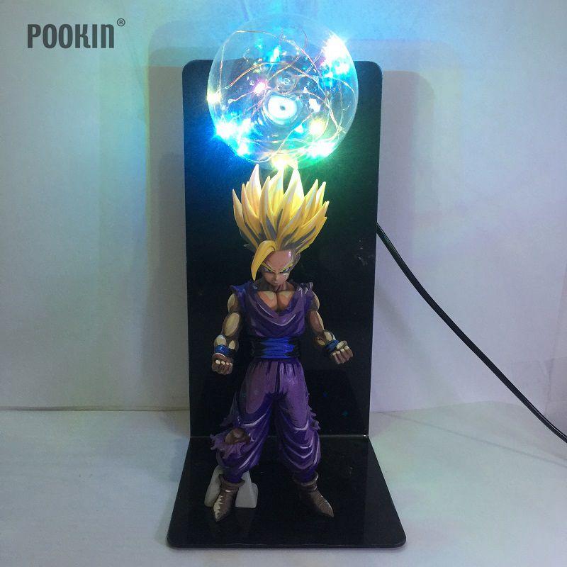Newest Dragon Ball  Son Gohan Strength Bombs Luminaria Led Colorful Night Light Holiday Gift Room Decorative Led Lighting LED Night Lights     - title=