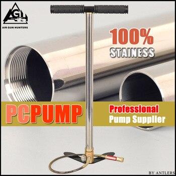 цена на High Pressure air Pcp Pump 4500PSI/30MPA Stainless steel pcp air hand pump for airgun paintball scuba tank filling gauge filter