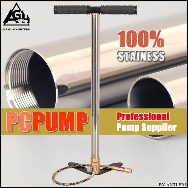 高圧空気pcpポンプ 4500PSI/30MPAステンレス鋼pcp空気ハンドポンプのためのエアガンペイントボールスキューバタンク充填ゲージフィルター