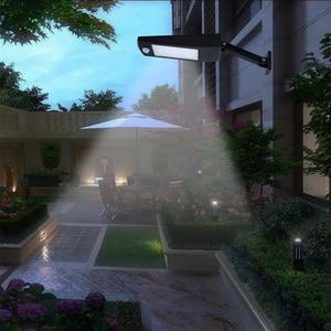 Image 5 - 48/60 led sem fio solar luzes led decoração ao ar livre à prova dwaterproof água pir sensor de movimento solar luz de parede para jardim rua lâmpadas solares