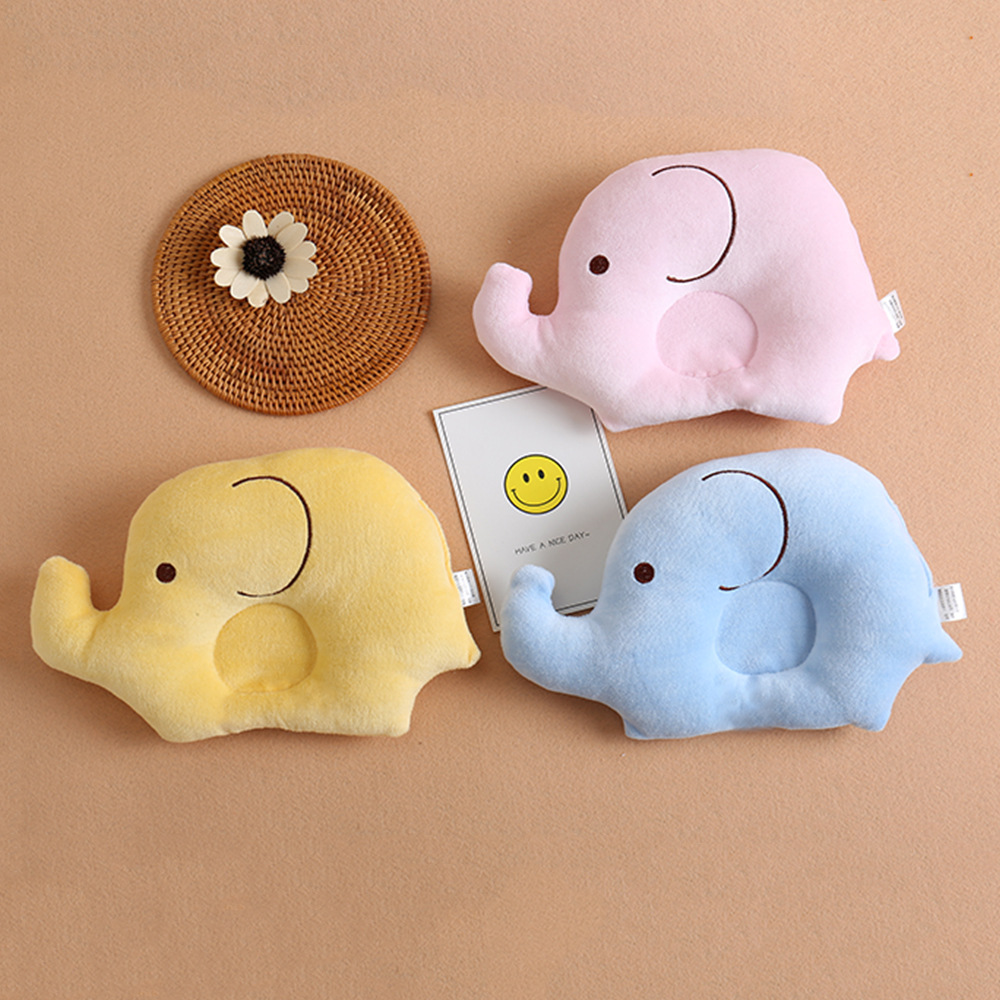 Baby Shaping Pillow Soft Cotton Lovely Cartoon Sleep Head Positioner Anti-rollover Elephant Head Protection Newborn Gift G0031