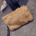 New Arrival Fur Clutch Bags Fashion Style Women Handbags Evening Tote Bag Female Bolsas Small Handbag Solid Zipper Party Purse