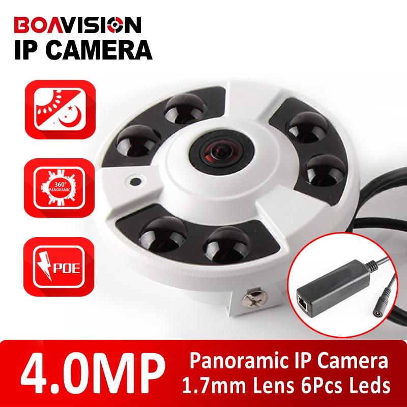 H265 3MP 4MP IP Camera POE Network View 180 360 Degrees Panoramic Night Vision IR 20m