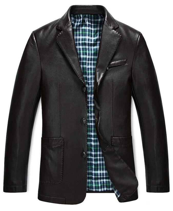 Leather jacket suit style