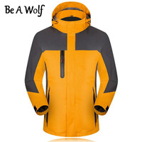 Be A Wolf Climbing Hiking Jacket Women Men Outdoor Sport Camping Skiing Hunting Fishing Winter Waterproof