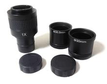 On sale 1X C Mount binocular trinocular Microscope Adapter for CCD CMOS video Camera Digital Eyepiece Relay Lens 23.2mm 30mm 30.5mm