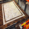 Top Quality Light Yellow Brown Ivory White Cowhide Patchwork Area Rug Fur Hair Carpets For Living