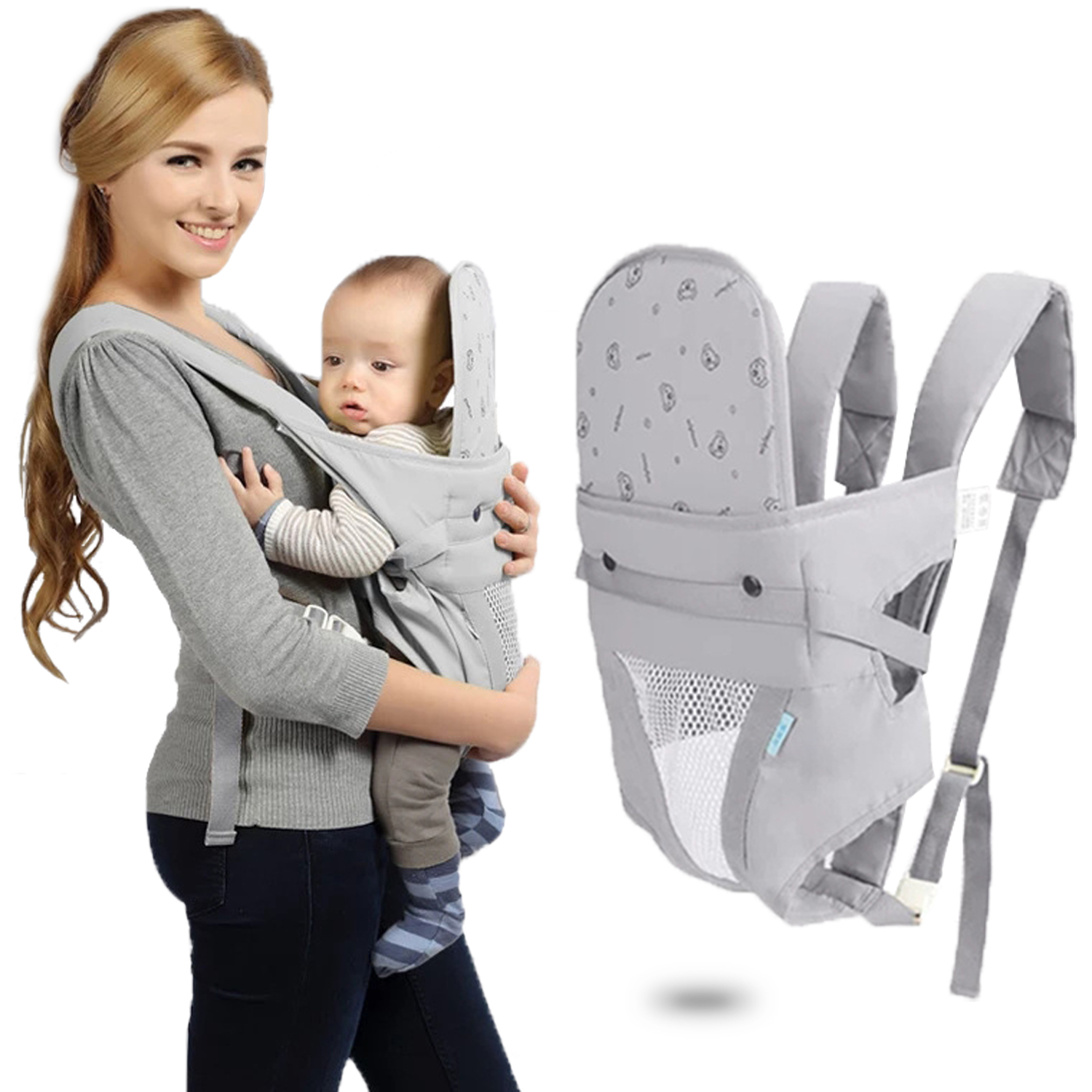 Portable Kangaroo Baby Carrier Backpack 3-30 Months Solid Kangaroo Bag For Children Newborn Baby Sling Wrap Portabebe Ergonomico