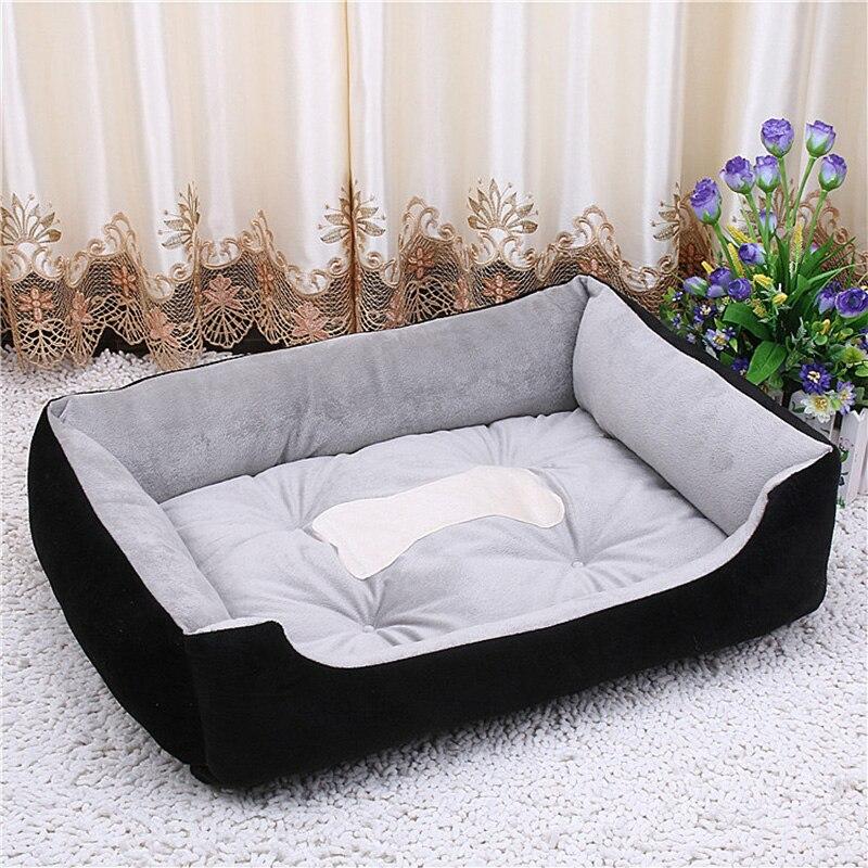 Gran tamaño de gran cama del gato del perro de la perrera estera paño suave del