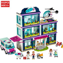 932Pcs Heartlake City Park Love Hospital Girl Friends Building Blocks Sets Bricks Toys for Children