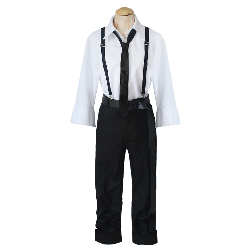 Bungo Stray Dogs Literary Stray Dogs Atsushi Nakajima Cosplay Costume Full Set Uniform suit for Halloween T90147