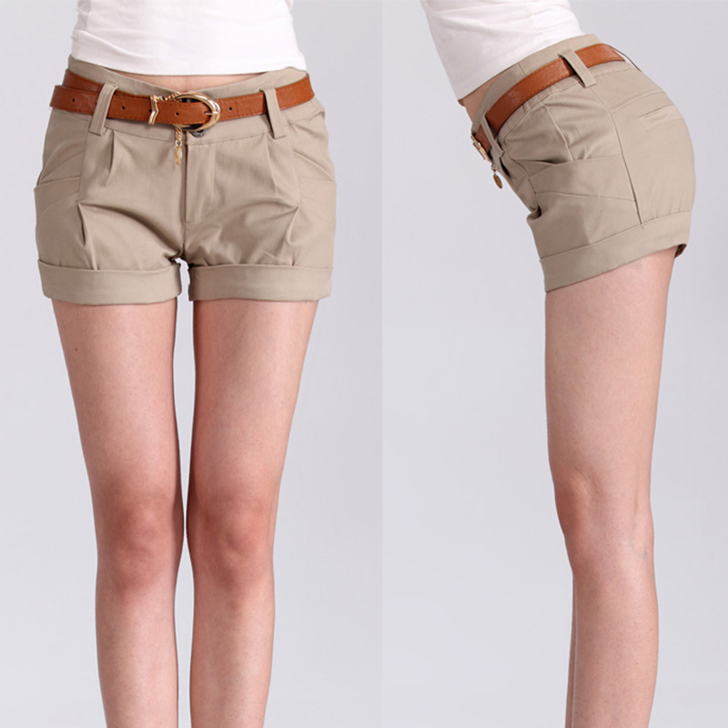 e0b91787b 2017 Summer Hot Selling Woman Solid Shorts Casual Short Pants Woman Clothes  Shorts Slim Sexy Girls Daily Short Outfit Size M XL-in Shorts from Women's  ...