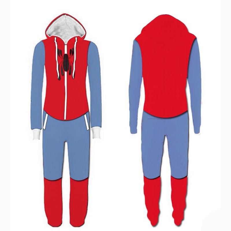 Deadpool Spider-man Homecoming Cosplay Pajamas Costume Adult Cartoon Flash Man Jumpsuits Pyjamas Deadpool Pajamas Suits Fashion