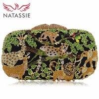 Natassie Вечерние сумки Для женщин Клатчи сумка женская кристалл кошельки женские зоопарк животных партия сцепления