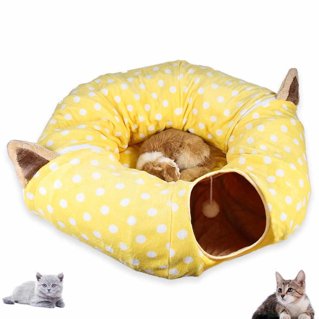 Складная палка-игрушка для кота трубы Лежанка для кошек баррель кошка квартира всплывающее окно стекируемые кровать