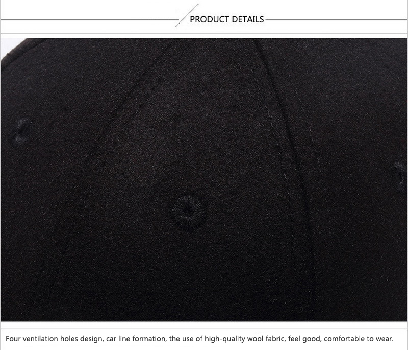 Cork Brim Baseball Cap - Black Stitch Detail