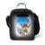 Diseñador de Estilo de Muy Buen Gusto Linda Jirafa Adultos Niños Lunch Box Lunch Bag Crazy Horse Moda Bolsa de Almuerzo Con Aislamiento Termica Lancheira