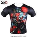 2016 Nueva moda Deadpool Marvel Super Hero camiseta Hombres Comic Badass Personajes Deadpool Traje Armadura Superior Bajo la camiseta Homme