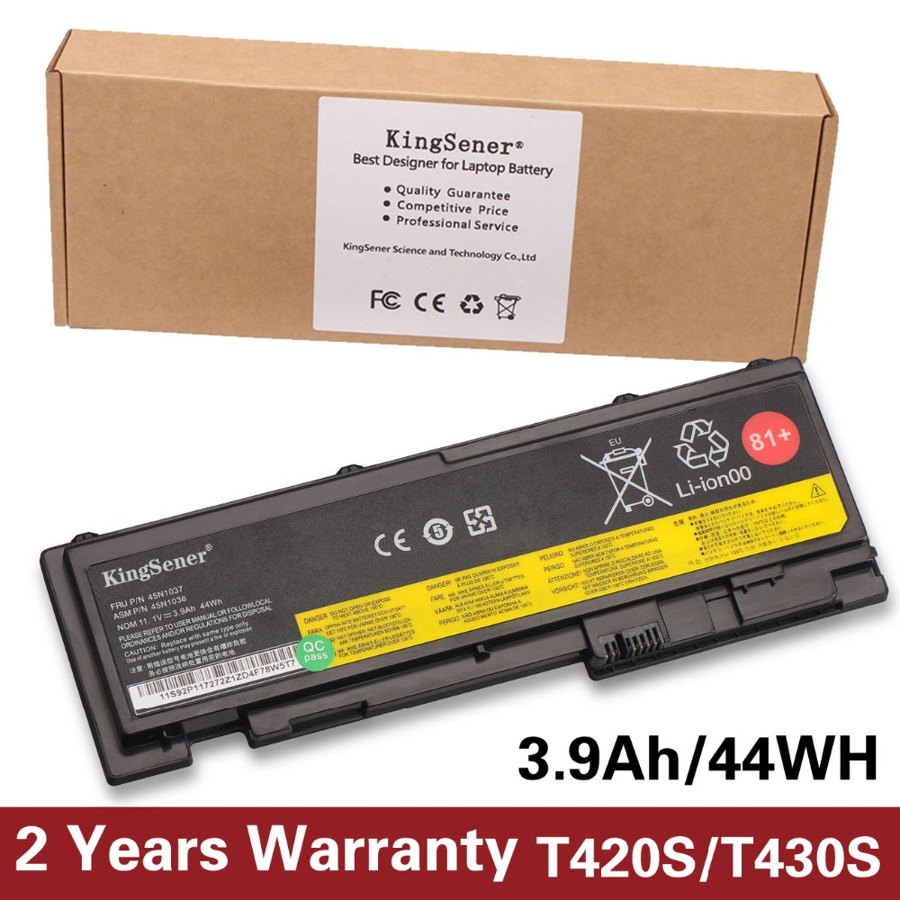 44WH New Laptop Battery For Lenovo ThinkPad T430S T420S T420si T430si 45N1039 45N1038 45N1036 42T4846 42T4847 2 Years Warranty