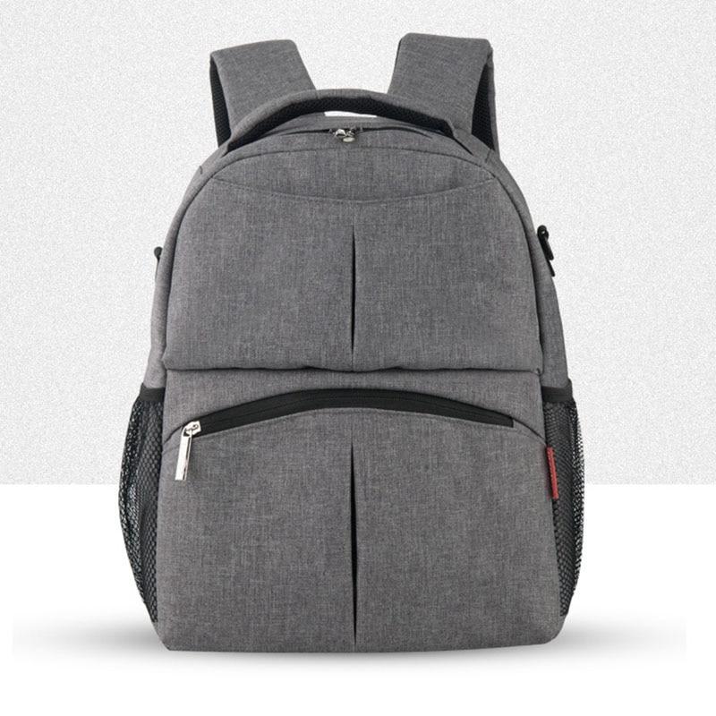 माँ नए डिजाइन लंगोट के लिए insular ब्रांड सॉलिड कलर डायपर बैग बैकपैक मल्टीफ़ंक्शनल बेबी केयर घुमक्कड़ बैग