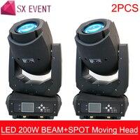 2PCS 200W LED Lyre Moving Head Light Beam Spot Wash 3in1 Light Party Light DJ stage light night club wedding dj equipment