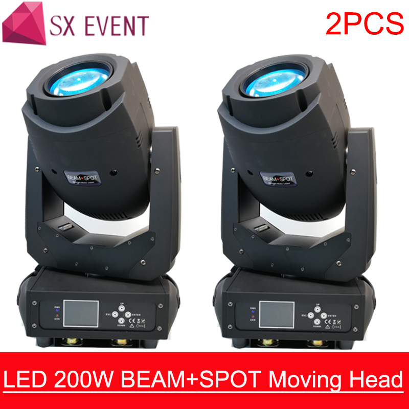 2PCS 200W LED Lyre Moving Head Light Beam Spot Wash 3in1 Light Party Light DJ stage light night club wedding dj equipment