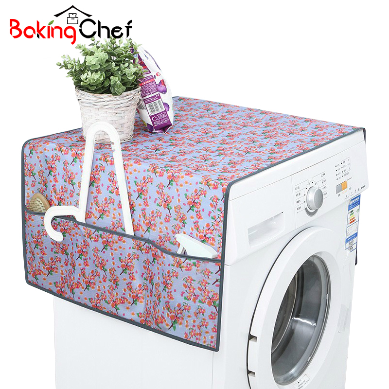 BAKINGCHEF Flower Patterned Waterproof Washing Machine Covers Household Refrigerator Cleaning Home Gear Organizer Wholesale Case