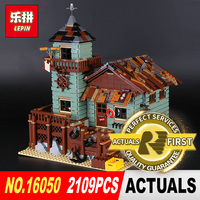 Lepin 16050 2109Pcs Creative MOC Series The Old Finishing Store Set Children Educational Building Blocks Bricks