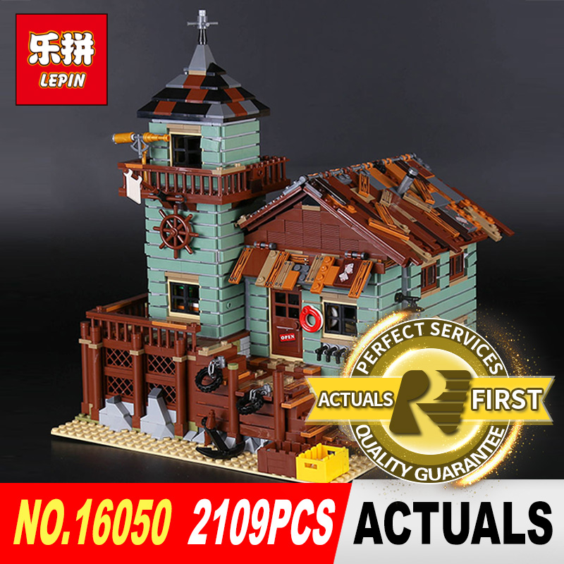 Lepin 16050 2109Pcs Creative MOC Series The Old Finishing Store Set Children Educational Building Blocks Bricks Toys Model 2131 lepin 16050 the old finishing store set moc series 21310 building blocks bricks educational children diy toys christmas gift
