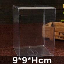9*9*6cm-9*9*18cmCreative clear PVC box Rectangular environmental protection material Display European wedding gift&Candy