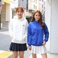 Mulheres 2017 outono inverno estilo coreano camisolas do hoodie agasalho bonito bordado harajuku camisolas de manga longa roupas