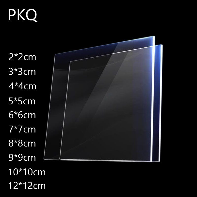 Transparent-Board Plexiglass Square DIY Plastic Clear Perspex 1-4mm Panel-Thick Many-Sizes