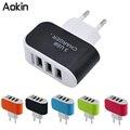 Aokin 3 Portas De Parede Múltipla USB Carregador Inteligente 5 V 3A EU adaptador de tomada de telefone móvel dispositivo de carregamento rápido mais novo para o iphone samsung