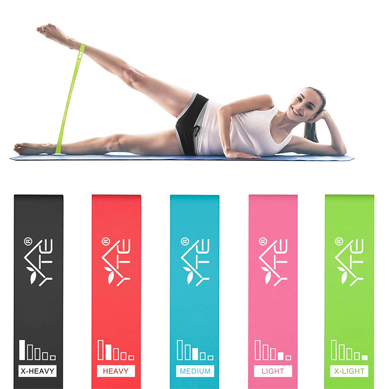 5Pcs Resistance Bands Fitness Weight Loss Yoga Pilates