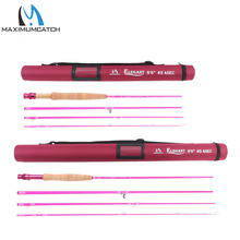 Maximumcatch 2wt/5wt Women Pink Fly Fishing Rod Medium-Fast with Cordura Rod Tube