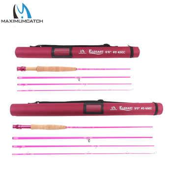 Maximumcatch 2wt/5wt Women Pink Fly Fishing Rod Medium-Fast with Cordura Rod Tube - DISCOUNT ITEM  41% OFF Sports & Entertainment