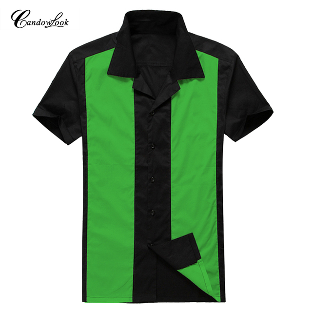 22c5034e4598b Candowlook Plus Size Shirts New Arrive Cotton Emerald And Black Splicing  Mens Casual Shirt Short Sleeve Male Camisa Masculina