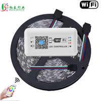 15 M WIFI LED bande 5050 Non étanche 60 LED/M magique maison WIFI contrôleur téléphone intelligent contrôle 10 M 5 M éclairage Diode bande